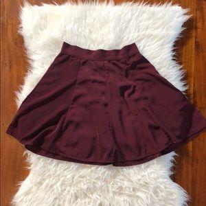 Brandy Melville Burgundy A-Line Mini Skirt